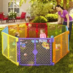 North States Superyard Colorplay 8 Panel Review * Safer intended for Baby Gate For Living Room