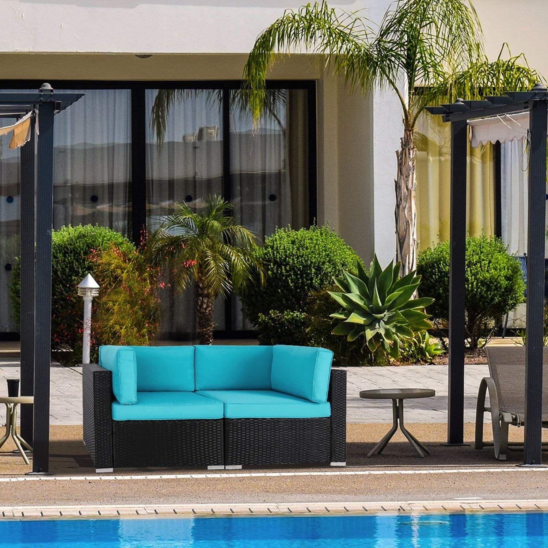 Patio Sectional Corner Sofa Thick Cotton Sofa Set Amazon for Amazon Prime Patio Furniture