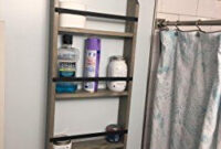 Pin On Bathroom within Bathroom Ladder Shelf Over Toilet
