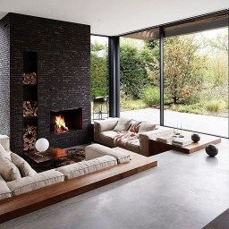 Pinchristopher O'Donnell On House Plans In 2020   Sunken with Sunken Living Room Ideas