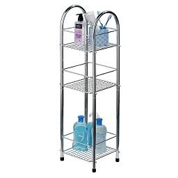Prime Furnishing 3-Tier Bathroom Storage Stand, Chrome with regard to 3 Tier Bathroom Shelf