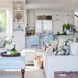 Recreate This Impeccable Hamptons Style Home Featured In with regard to Beach House Living Room