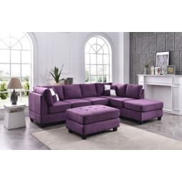 Sectional Sofas & L-Shaped Couches | Goedeker'S inside Purple Sofas Living Rooms