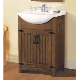 Single Sink Bathroom Vanities   Goedeker'S inside 24 Bathroom Vanity And Sink
