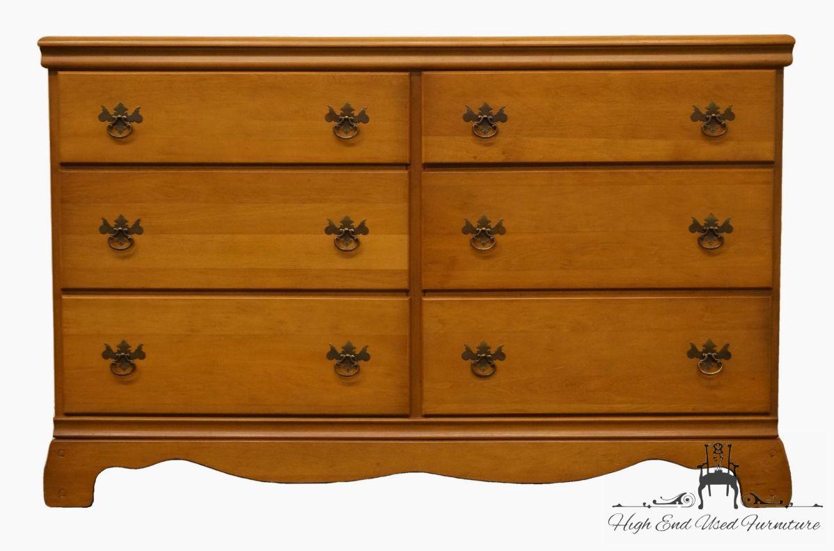 "Sumter Cabinet Co. Solid Hard Rock Maple 54"" Double Dresser 2854 for Hard Rock Maple Furniture"
