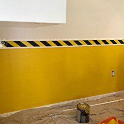 Tapix Black & Yellow Hazard Warning Safety Stripe Tape • 3 within Blue And Yellow Bathroom Decor