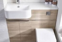 Tavistock Match - Semi Countertop & Wc Unit - Rh - 850 X inside Bathroom Pedestal Sink Storage