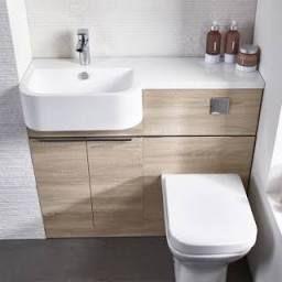 Tavistock Match - Semi Countertop & Wc Unit - Rh - 850 X inside Bathroom Pedestal Sink Storage