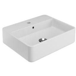 Tra Wall Mounted Ceramic Sink Lavatory Washbasin, One Faucet inside Wall Hung Bathroom Sink