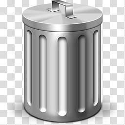 Trash Can Icon, Cylindrical Gray Stainless Steel Trash Bin within Bathroom Garbage Can With Lid