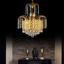 Unique Crystal Fringe Pendant Chandelier Modern Large for Chandelier Lights For Living Room
