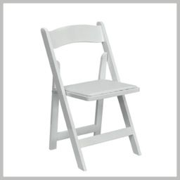 White Fancy Resin Chair Www.mtbeventrentals | Wood in Plastic Resin Outdoor Furniture
