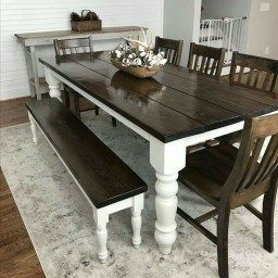 32 Inspiring Farmhouse Black Table Design Ideas To Manage within Furniture Dining Table Design