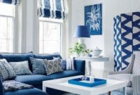 46 Affordable Blue And White Home Decor Ideas Best For intended for Living Room Design Ideas Blue