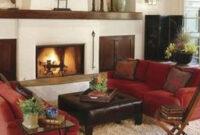 47 Brilliant Red Couch Living Room Design Ideas | Red Couch inside Living Room Design With Brown Leather Sofa