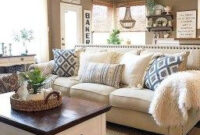 53 Rustic Farmhouse Living Room Design Decor Ideas | Modern inside Small Kitchen Living Room Design