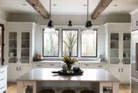 80 Gorgeous Farmhouse Gray Kitchen Cabinet Design Ideas pertaining to Gourmet Kitchen Design Ideas