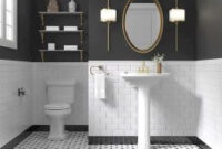99+ Luxury Black And White Bathroom Ideas | White Bathroom with Living Room Tiles Design Ideas