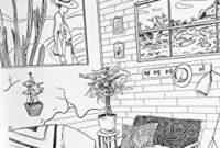Amazon: Sanctuary: Living Spaces Coloring Book pertaining to Interior Design Sketches Of Furniture