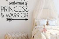 Girls Princess Warrior Bedroom Vinyl Decor Wall Decal intended for Princess Bedroom Design
