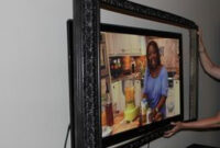 Make A Cool Flat Screen Tv Picture Frame | Framed Tv, Tv inside Living Room Design With Tv In Corner