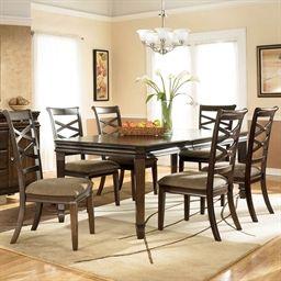 Signature Design7-Pc. Hayley Rectangular Dining Set with Design Furniture Dining Table