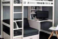 Thuka Hit High Sleeper Bed With Desk & Chairbed | Loft Beds with Bedroom Design With Desk
