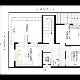 27X36 Ft Best And Latest 2 Bhk House Plan   3D Home Design inside Design Bedroom Floor Plan