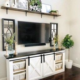 46 Popular Living Room Decor Ideas With Farmhouse Style intended for Living Room Design Without Tv