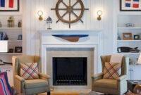 70 Cool And Clean Coastal Living Room Decorating Ideas regarding Nautical Kitchen Design