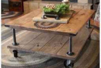 70 Suprising Diy Projects Mini Pallet Coffee Table Design within Design Furniture Industrial