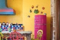 Astleford Interiors   Pink Refrigerator, Kitchen Design throughout Mexican Kitchen Design Ideas