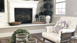 ✓70 Favourite Farmhouse Living Room Decor Ideas In 2020 inside Living Room Design Around Fireplace