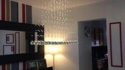 Ella Fashion® Contemporary Flush Mount Modern Crystal Rain throughout Living Room Drop Ceiling Design