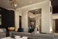 Guide To Modern Arabic Interior Design | Modern Islamic in Modern High Ceiling Living Room Design