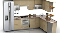 Kitchen N240311 - 3D Model (*.3Ds) For Interior 3D with regard to Kitchen Design Ideas Maple Cabinets