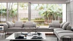 Modern Classic Villa Interior Design - Riyadh, Saudi Arabia with Simple Living Room Design Malaysia