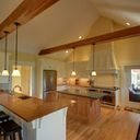 Yellow Wood And With Cross Beams | Craftsman Kitchen with regard to Craftsman Style Kitchen Design