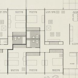 Ludwig Mies Van Der Rohe - Pavilion Apartments And Town in 1 Bedroom Apartment Floor Plan Design