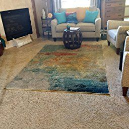 Amazon: Nourison Celestial (Ces02) Modern Watercolor intended for Area Rug Over Carpet In Living Room
