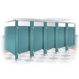 Baked Enamal Toilet Partitions Cubicles From Bradley Corp regarding Bathroom Partitions Home Depot