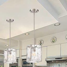 Madison Square 1-Light Single Rectangle Pendant (With Images with Flush Mount Kitchen Lighting Ideas