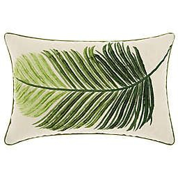 Mina Victorynourison Palm Leaf Oblong Throw Pillow In for Palm Tree Bathroom Rugs