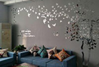 N.sunforest 3D Crystal Acrylic Couple Tree Wall Stickers intended for Wallpaper Design Ideas For Living Room