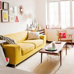 75 Beautiful Yellow Sofa For Living Room Decor Ideas (With for Sofa Bedroom Design Ideas