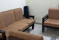 Mp Enterprises Sheesham Wood 5 Seater Sofa Set 3+1+1 For inside Furniture Wood Design Sala Set