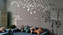 N.sunforest 3D Crystal Acrylic Couple Tree Wall Stickers within Wall Design For Couple Bedroom